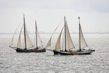 Sailingboats on the waddenzee