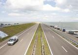 The  afsluitdijk between Friesland and Noord-Holland poster
