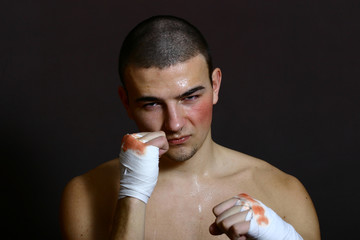 a young boxing fighter