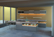 High-end kitchen in minimalist setting