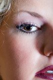 Close-up of glamour make up with false eyelashes poster