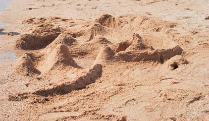 sand castle on a beach