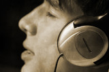 grunge edition ,teen listening music poster