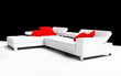 Modern furniture on a white background 3d image