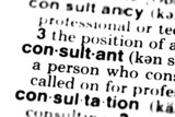 Consultant - Dictionary poster