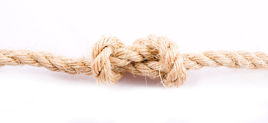 Rope as conjunction on white