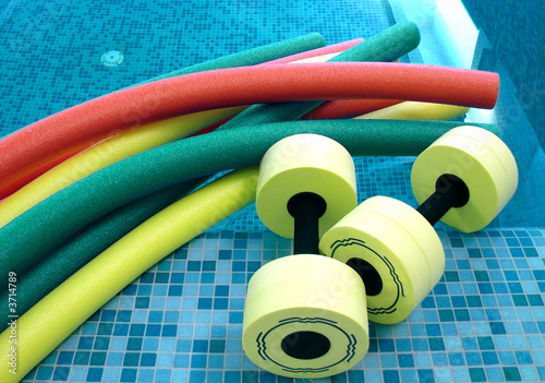 aqua noodles dumbbells