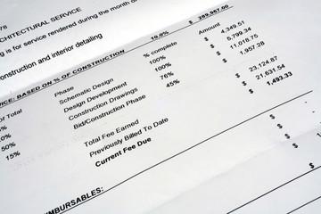 Architectural Invoice