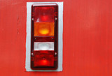 Rear signal light of a bus poster