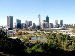 A cityscape of Perth in Western Australia