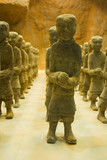 Rows of terracotta figurines in Xuzhou, China poster