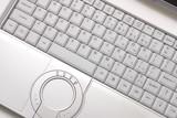Keyboard of silvery hi-end  laptop poster