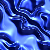 Blue silk material poster