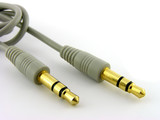 Audio connector. A close up. Isolated on a white background. poster