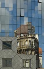 Alte und neue Fassade