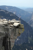 The view of Yosemite from the summit of Half Dome poster