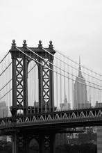 Manhattan Bridge à New York (Noir et Blanc)