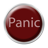 "Red button with the word ""Panic"""