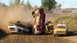 Rally on dirt-road - auto-sport misfortune