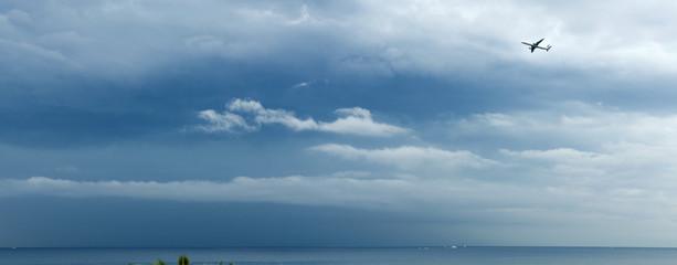 panorama of a cloudy sky