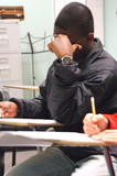 African american student in class. poster