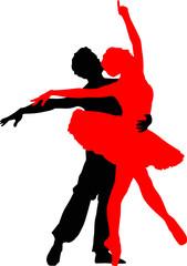 Coppia di ballerini danza classica