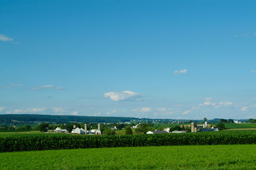 Farm and cornfield in Lancaster PA