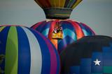 Hot Air Balloons Lifting off poster