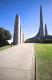 Famous landmark of the Afrikaans Language Monument poster