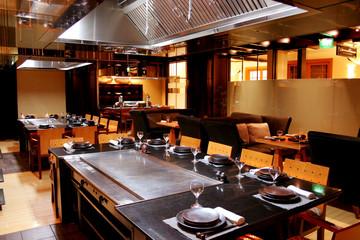 Interiors of japanese restaurant