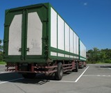Large Trailer Truck poster