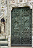 Gate of main Cathedral of Florence poster