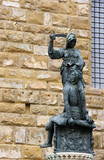 Sculpture near Palazzo Vecchio poster