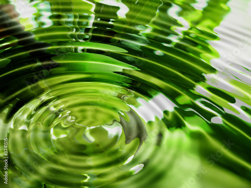 Fotobehang Water planten Bright abstract green water background