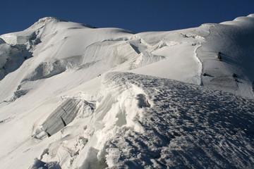 Torn glacier