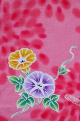 Flower design on Japanese kimono