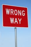 Traffic Sign - Wrong Way poster