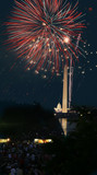 View of the 4th of July Fireworks in Washington DC poster