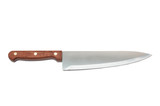 New kitchen knife on a white background poster