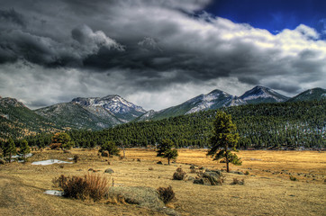 Rocky Mountain National Park Thunderstorms in HDR