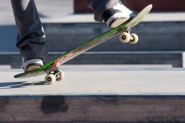 Skateboarder in a skate park