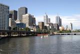 Melbourne downtown, Australia, Yarra river poster