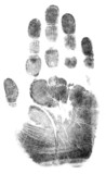 Full Hand Print Closed - simple monochrome image. poster