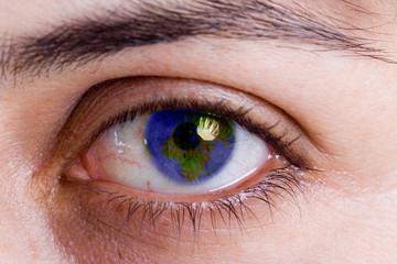 Human eye. macro shooting...
