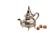 Moroccan tea-pot and cane sugar poster