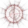 abstract compass or gun sight