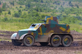 ww2 czechoslovakian light armored vehicle with machine gun poster