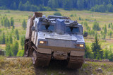 swedish amphibious armoured all terrain vehicle  poster