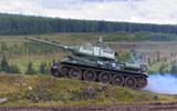 historic russian T-34/85 world war 2 medium tank poster