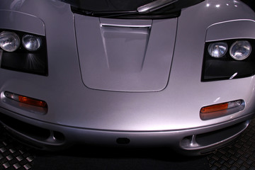 silver supercar headlights